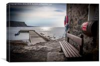 Crovie Pier, Canvas Print