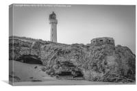 Covesea Lighthouse (B&W), Canvas Print