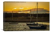 Findhorn Sunset, Canvas Print