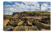 Covesea Lighthouse, Canvas Print