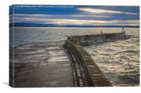 Burgled Harbour Wall, Canvas Print
