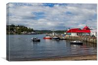Harbour in Oban, Canvas Print