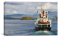 Leaving Oban, Canvas Print