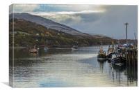 Poolewe Harbour, Canvas Print