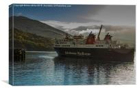 Ullapool Ferry, Canvas Print