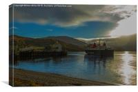 Ferry Arriving in Ullapool, Canvas Print
