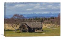 Leannach Cottage, Canvas Print