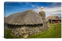 Traditional Scottish Croft, Canvas Print
