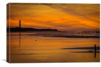 West Beach Sunset, Canvas Print