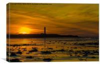 West Beach Sunset, Canvas Print
