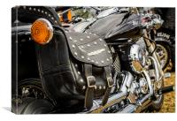 Bikes And Leather, Canvas Print
