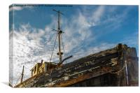 Old Burghead Boat, Canvas Print
