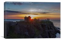 Dunnotter Castle Sunrise, Canvas Print
