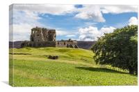 Auchindoun Castle, Canvas Print