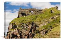 Duntulm Castle , Canvas Print