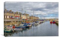The Lossiemouth Harbour, Canvas Print