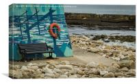 Lossiemouth Painted Wall, Canvas Print