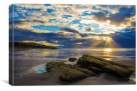 West Beach Sunset , Canvas Print