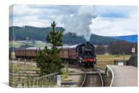 Strathspey Steam, Canvas Print