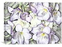 Freesia Art, Canvas Print