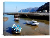 Lynmouth Harbour , Canvas Print