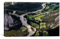 Snaking River of Banff National Park From Sulphur , Canvas Print