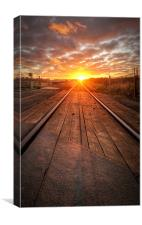 Sunrise on the Line, Canvas Print