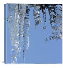 Clear blue sky with Icicles, Canvas Print
