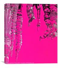 Hot Pink Icicles, Canvas Print