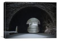 Snowing Oxford Canal Newbold Tunnel, Canvas Print