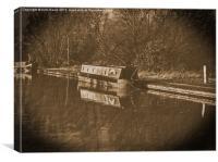 Vintage canal narrowboat duckett, Canvas Print