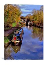 Stockton Locks, Canvas Print