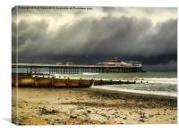 Cromer Pier Storm, Canvas Print