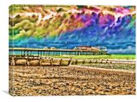 Colourful Cromer Pier, Canvas Print
