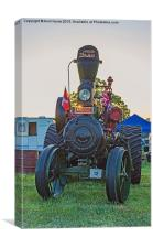 Moose traction engine at sunset, Canvas Print