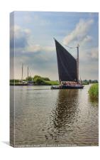 Albion on the River Thurne, Canvas Print