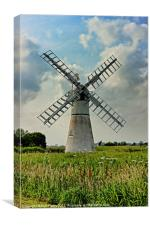 Thurne Dyke Drainage Mill, Canvas Print