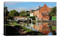 Braunston Lock No3 Northamptonshire, Canvas Print