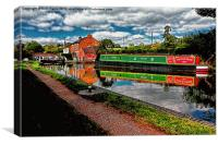 Reflections and Braunston Lock No3, Canvas Print