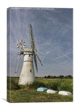 Thurne Dyke Mill and Boats, Canvas Print
