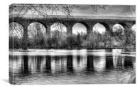 Viaduct at Reddish Vale Country Park, Canvas Print