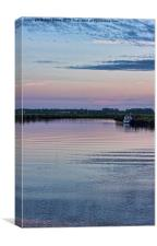 Sunset on the River Yare, Canvas Print