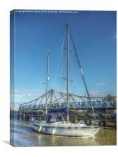 Reedham Swing Bridge and Jo-lene, Canvas Print