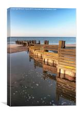 Norfolk groyne, Canvas Print
