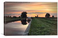 West Somerton Sunset, Canvas Print