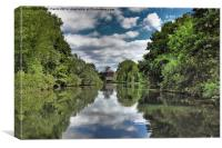 River Bure Wroxham to Coltishall, Canvas Print