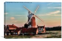 Cley windmill Norfolk, Canvas Print