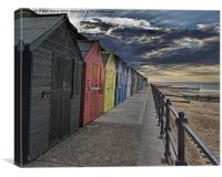Mundesley Beach Huts, Canvas Print