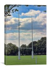 Rugby goal post at Rugby School, Canvas Print