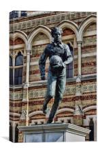 Statue of William Webb Ellis, Canvas Print